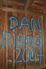 Names like that of Dan Rinard, counselor in 2004, cover the walls.