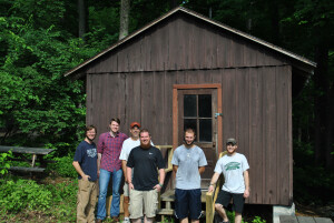 Our team of volunteers, past campers, local pastors and board members who helped convert the cabin.